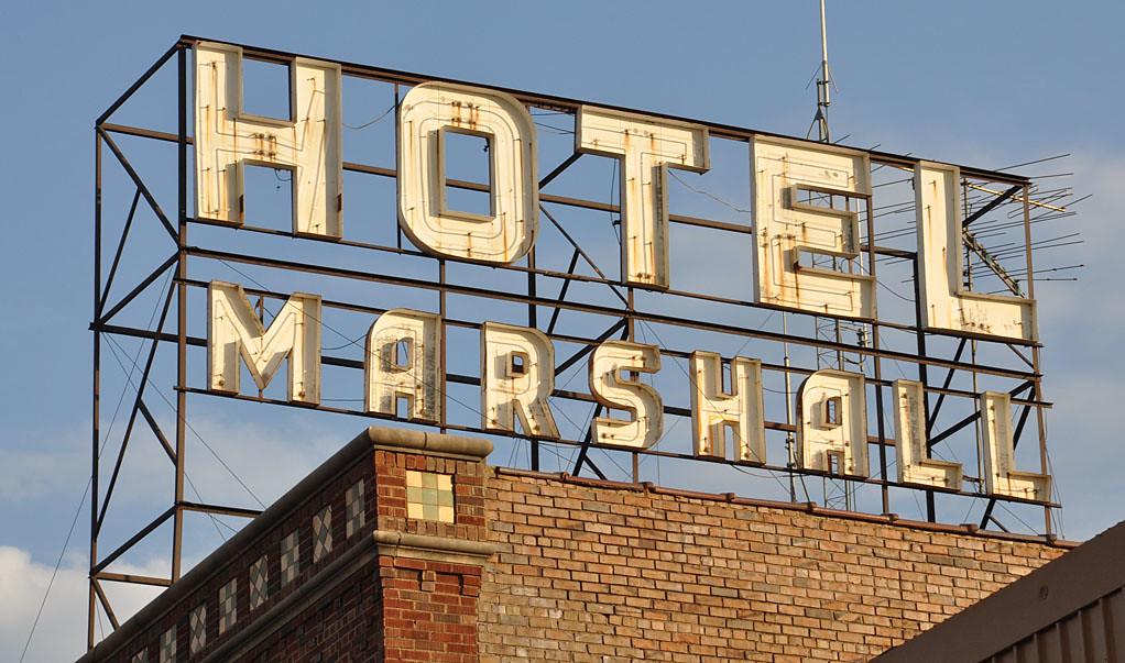 Marshall Hotel sign - Marshall, MN