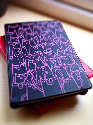 Cat sketchpad in black and pink by [rich]