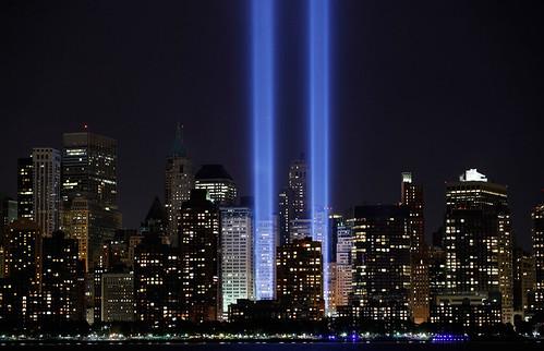 World Trade Center 9/11/01 attack memorial photo