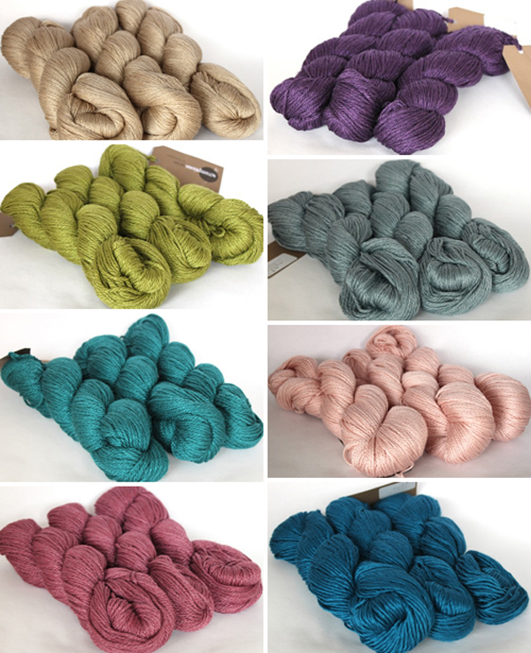 hand dyed Scrumptious yarn range from Fyberspates