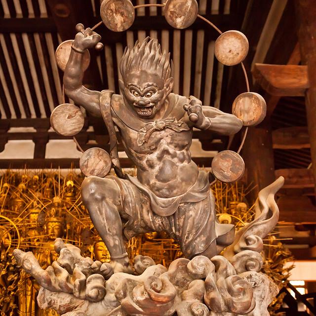 Raijin : Sanjusangendo temple, Kyoto, Japan / Japón