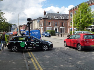 Google Streetview car in the UK