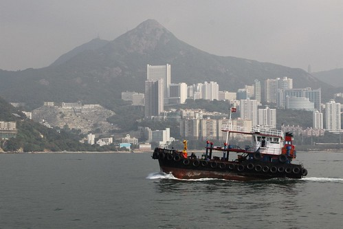 Dangerous goods vessel 'Wui Tung 6' beside Hong Kong Island