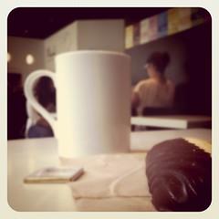 Coffee break with choco bar