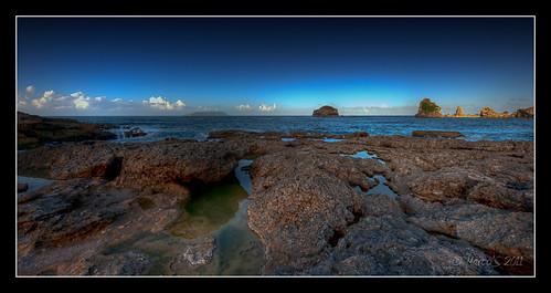 mer nikon rocks marcos hdr rocher guadeloupe antilles caraibe saintfrancois frenchwestindies pointedeschateaux d700 situationgéographique techniquephoto marco971