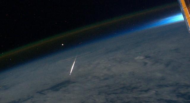 Perseid Meteor Seen From Space (NASA, International Space ...