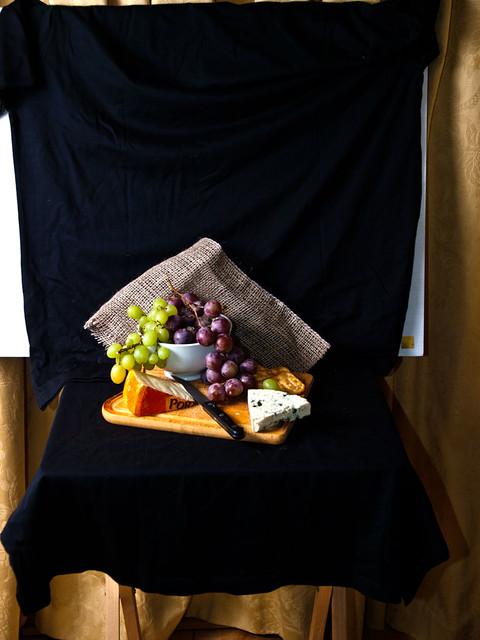 Grapes & Cheese - simple setup