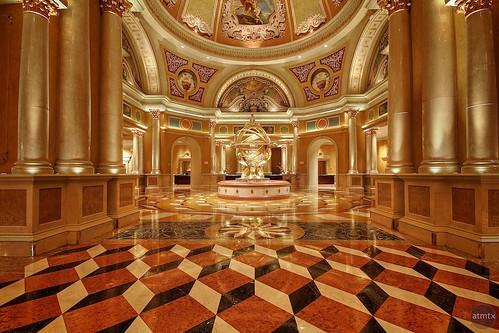 golden lasvegas nevada lobby venetian hdr