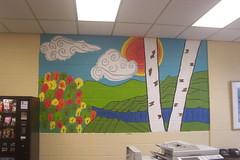 King Elementary Mural 1: Relaxing Autumn Scene