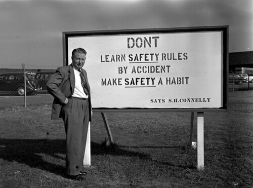Syd Connelly and winning safety slogan