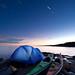 Kayak Camping Under Startrails by Bryan Hansel