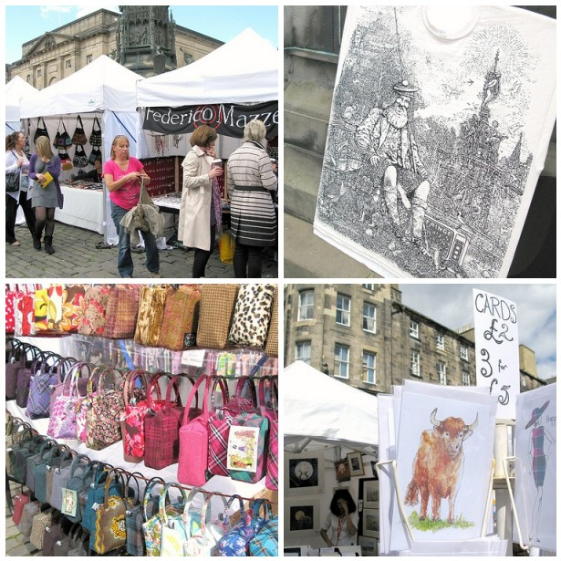 A wee craft fair at the front of St. Giles' Cathedral | Emma Lamb