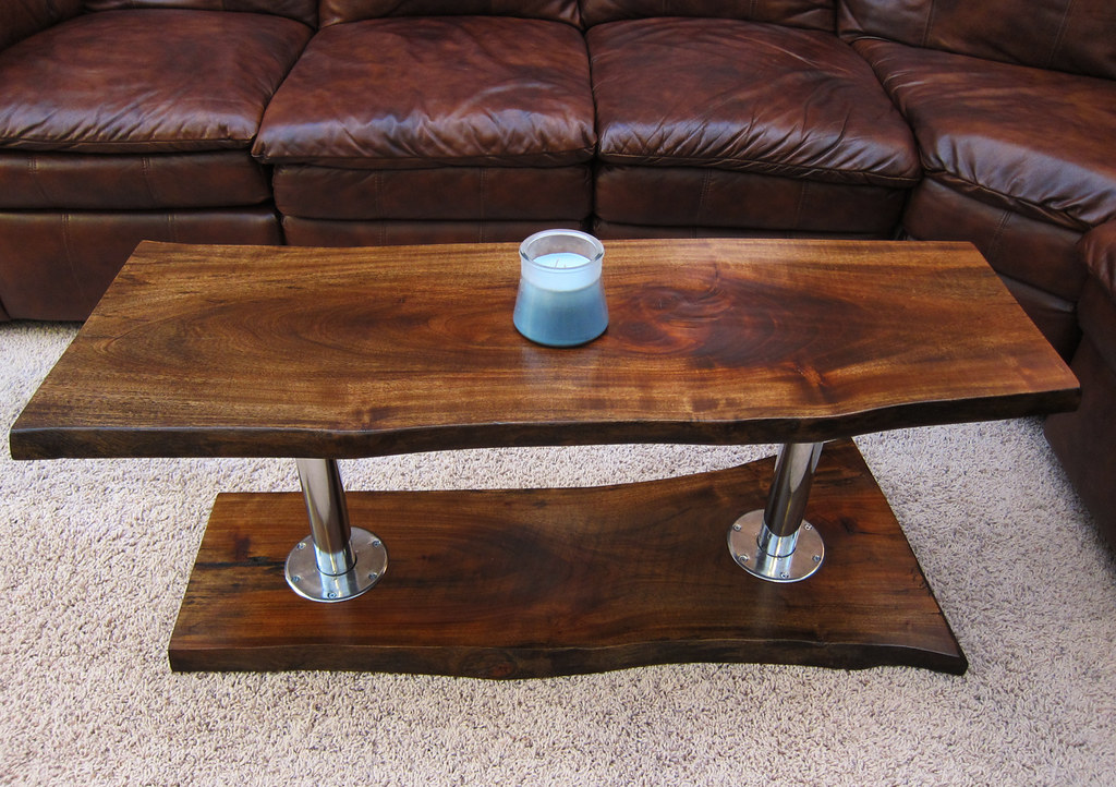 Contemporary Coffee Table / Solid Wood TV Stand