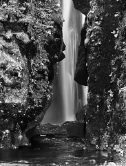 Hidden Waterfall (B&W)
