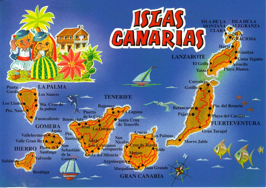 Canary Islands Maps And Views