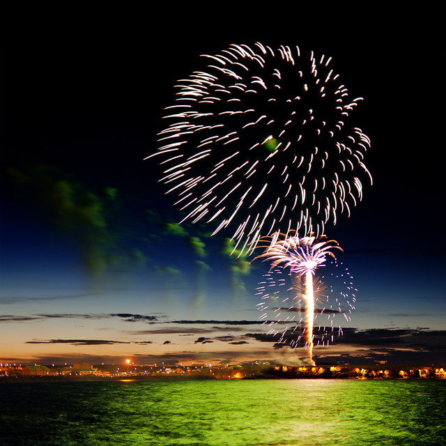 Fireworks at Ljósanótt