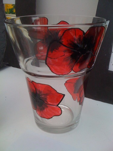 handpainted vase Poppy