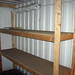 wood shelving