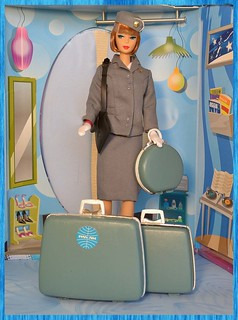 Pan Am re painted suitcases.