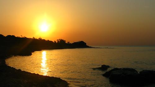 Sunrise over Sardinia