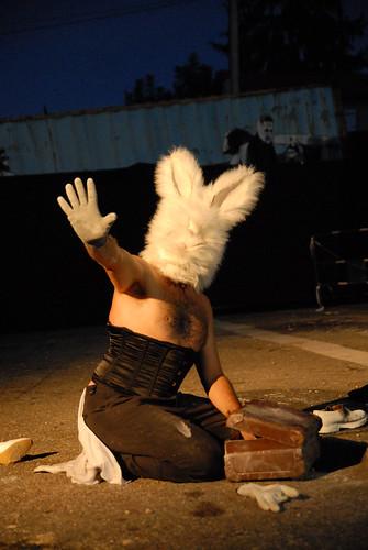 Borderline Biennale 2011 - Les Cavaliers de l'Apocalypse, Materia Prima acting performance DDC_7611