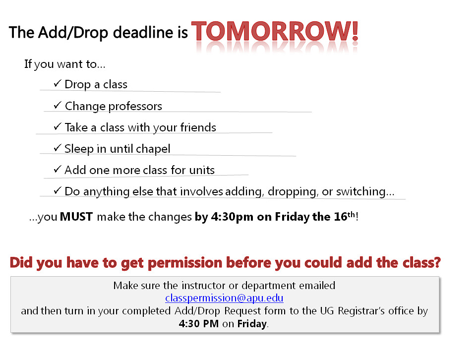 Fall 2011 - Add-Drop Deadline