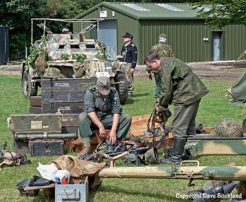 German Soldiers check their webbing
