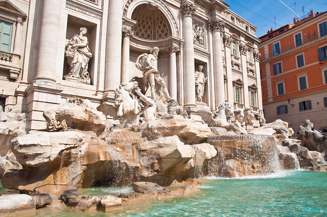 Trevi Fountain, Rome, Sept. 2011