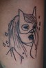 Monsieur Qui Cat girl tattoo Done by me,