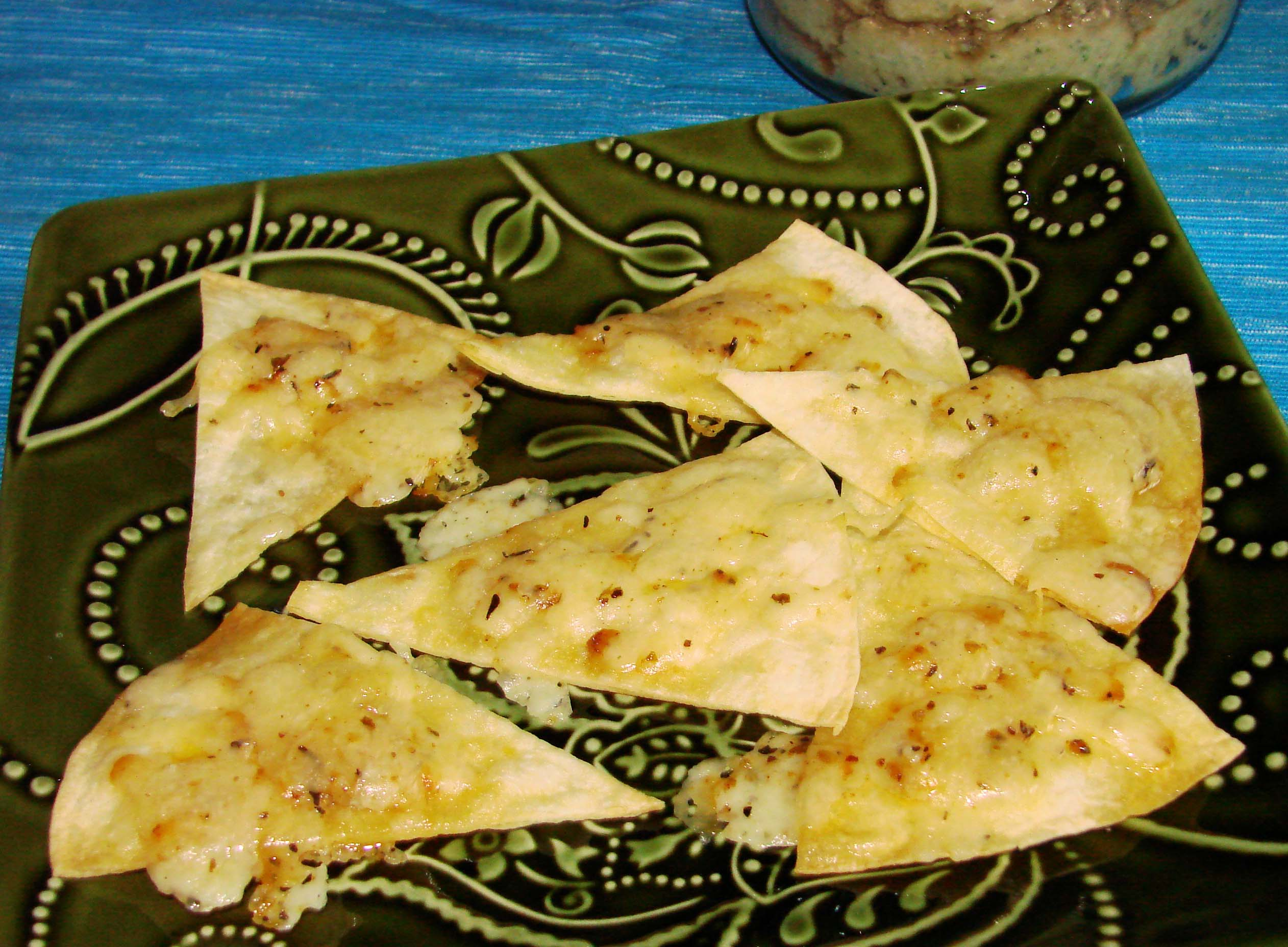 Cheesy Pita Chips