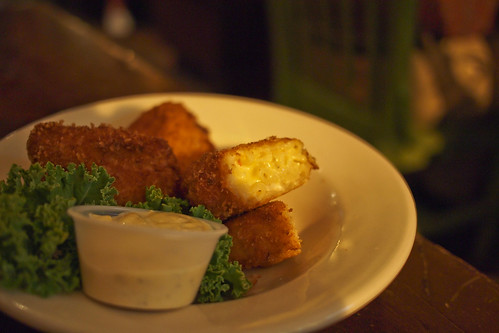 Fried Macaroni & Cheese @ front street brewery