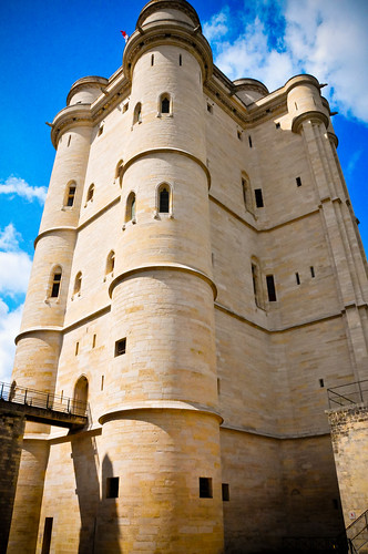 The Chatelet Tower and Donjon at Vincennes Castle - Paris France