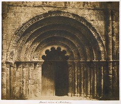 Central Portal of the Church of Saint-Jacques, Aubeterre, 1851, by Gustave Le Gray