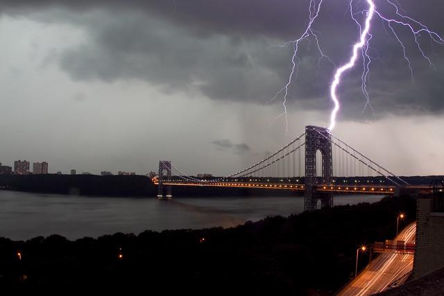 George Washington Bridge Lightning Strike 8.19.11