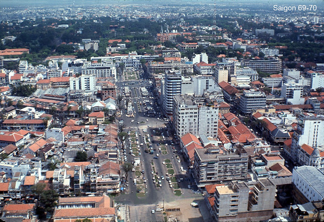 Aerial view of downtown Saigon 69-70