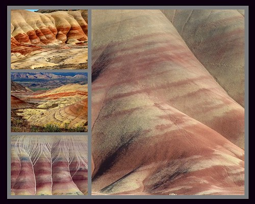 collage oregon mosaic collection paintedhills shale laterite johndayfossilbedsnationalmonument siltstone mudstone wheelercounty ringexcellence dblringexcellence