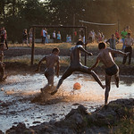 Swamp football in Pidkamin music festival