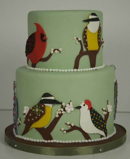 bird birthday cake