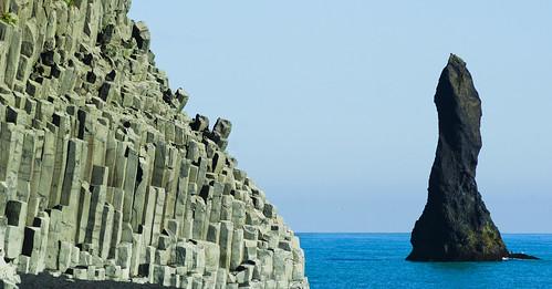 Basalt columns and Reynisdrangar