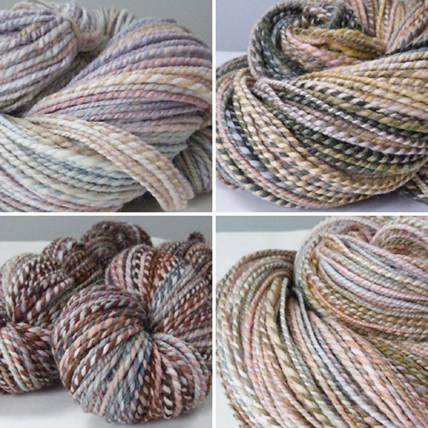handspun yarns from On the Round