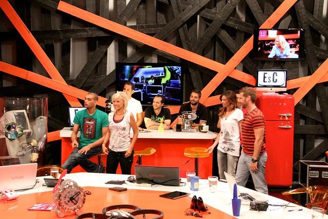 "ERT EsC SMEG 1 | The team of the show Esc at NET TV, ""logged ..."