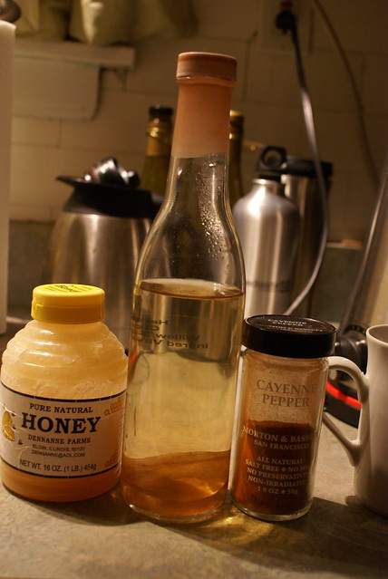255/365 Cold home remedy (honey, apple cider vinegar, cayene pepper)