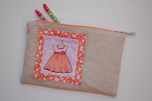 little dress pencil pouch