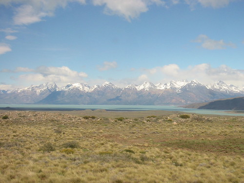 Snow capped peaks of the Patagonian Andes, and Lago Viedma (?)