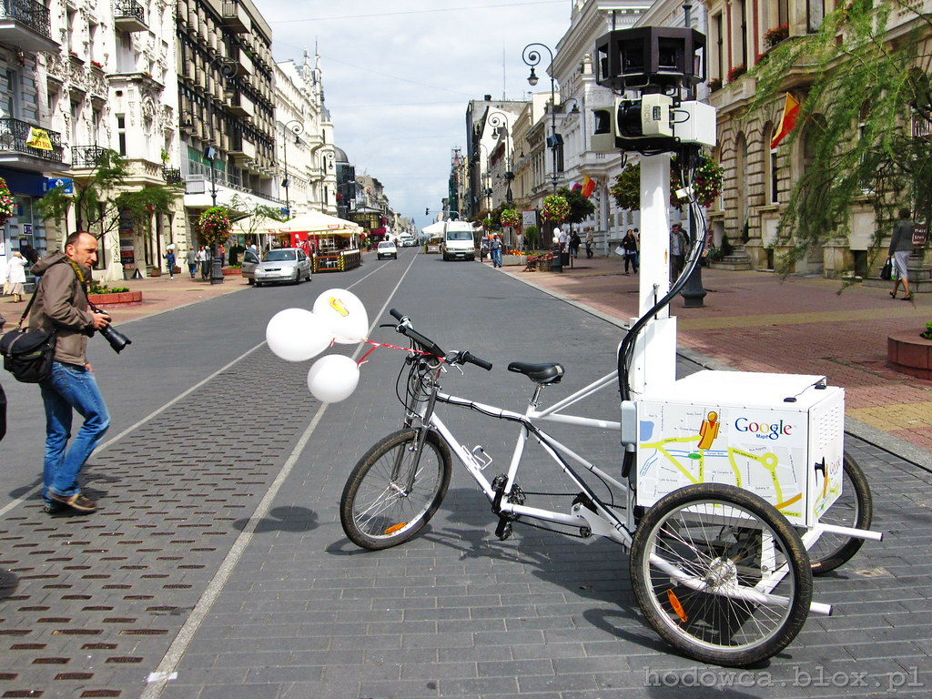 Google Street View bike on Piotrkowska Street
