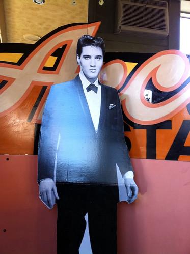 Cardboard Elvis, Arcade Restaurant, Memphis, Tenn.