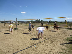 tennis(0.0), beach volleyball(0.0), tournament(0.0), ball over a net games(1.0), volleyball(1.0), sports(1.0), ball game(1.0),
