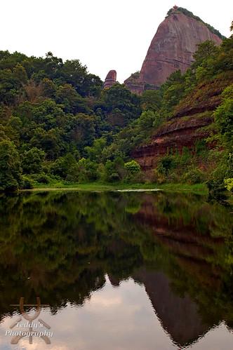 mountain reflection nationalpark unescoworldheritagesite 韶關 shaoguan 丹霞山 danxia