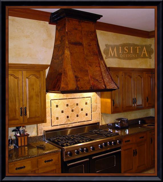 Hammered Copper Kitchen Vent Hood