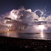 thunderstorm over Nice by phitar